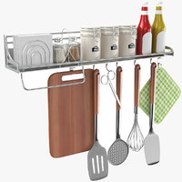 real kitchen utensil holder 3D model