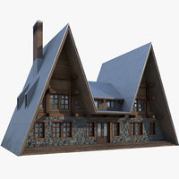 3D chalet model
