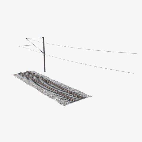 games railway track 3D model