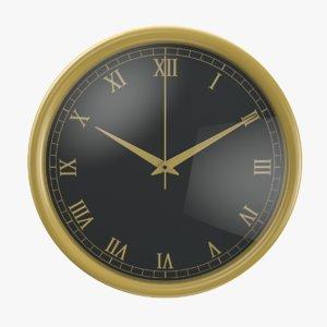 3D wall 06 clock model