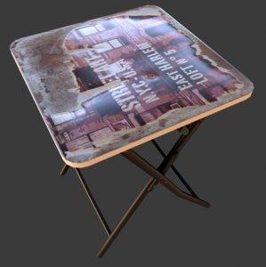 fold table 3D