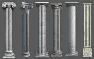 9 columns polys 3D model