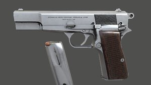3D pistol browning model