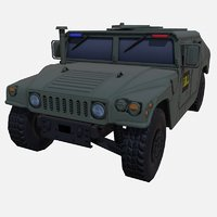 car military green fbi 3D