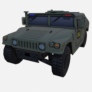 car military green fbi 3D