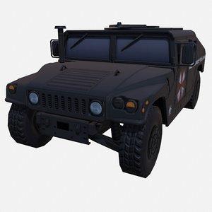 car military umbrella 3D model