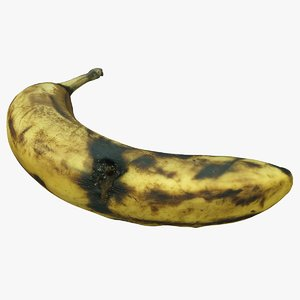 rotten banana 3D model