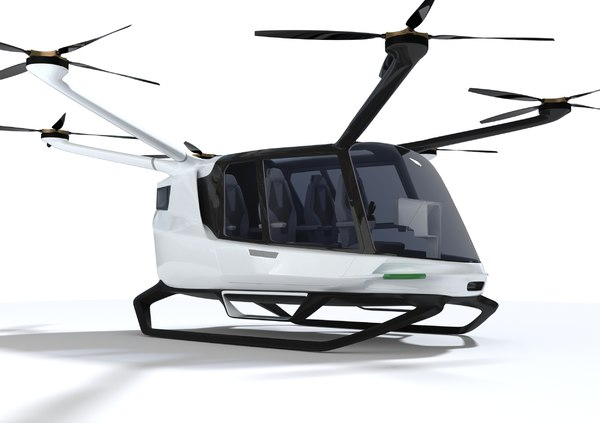 hydrogen poweed air taxi 3D model