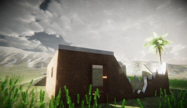 3D model little house