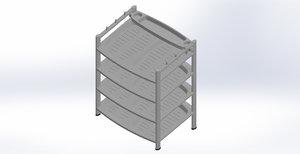 3D shoe rack