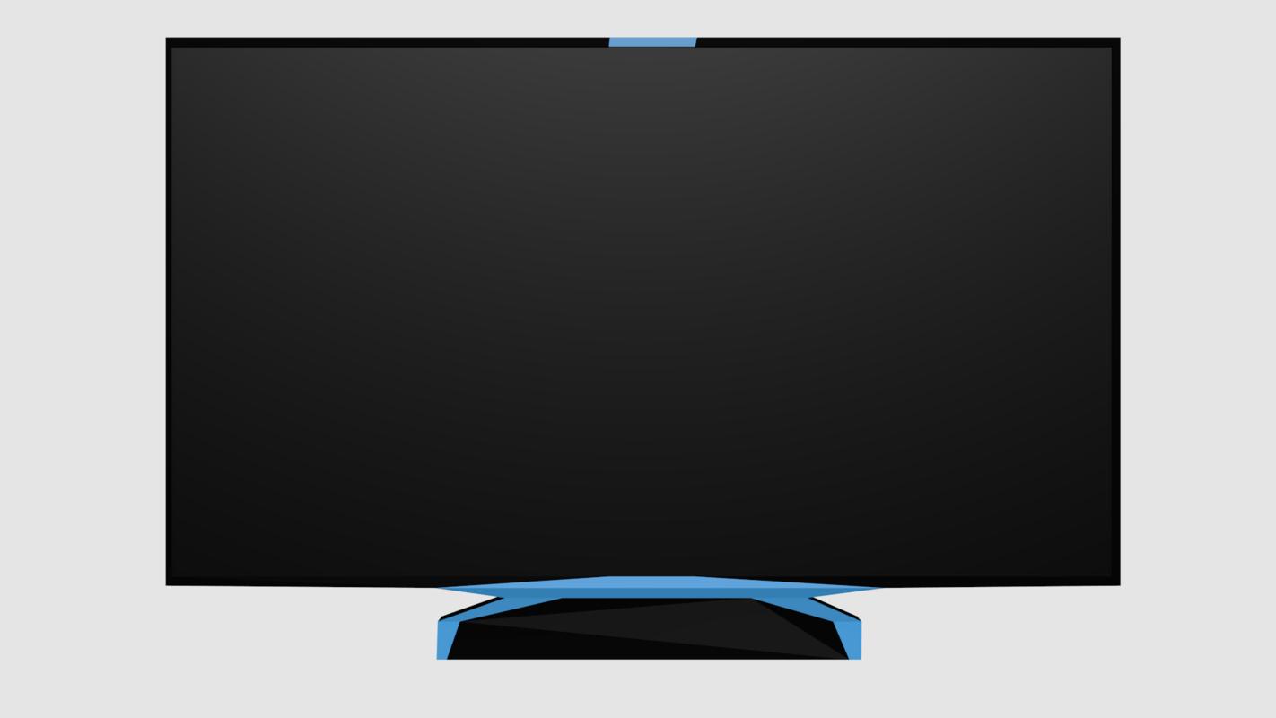 3D flat screen television