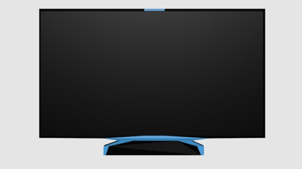 3D flat screen television