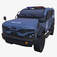 3D car armored blue swat model