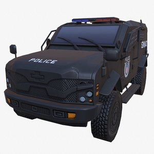 car armored black swat 3D