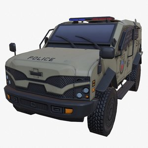 car armored dust swat 3D model