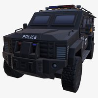 3D car armored black police