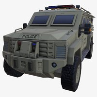 car armored police 3D model