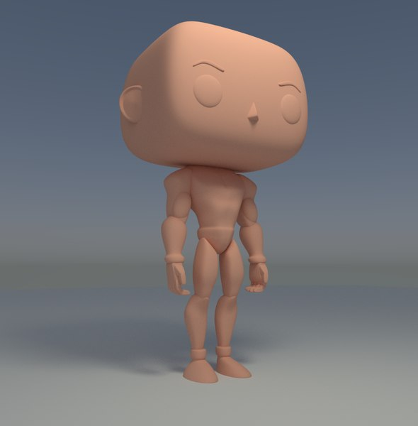 3D custom pop male model