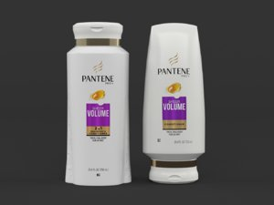 pantene shampoo conditioner 3D model