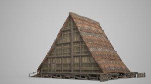 folk dwellings ancient 3D model
