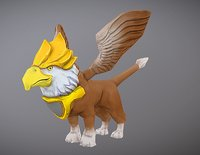 gryphon griffin creature model