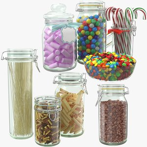 glass jars 3D model