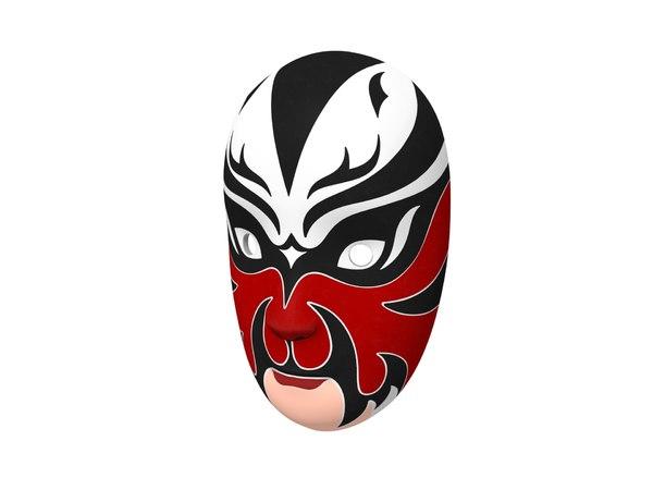 chinese opera mask 3D model