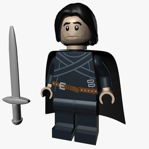 lego jon snow 3D model