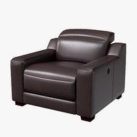3D model uttran reclining armchair kimstad
