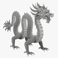 chinese dragon rig clr 3D model