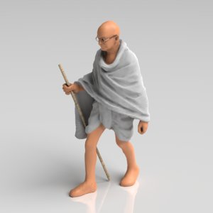 statue mahatma gandhi - model