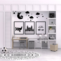 kid study modern interior 3D model