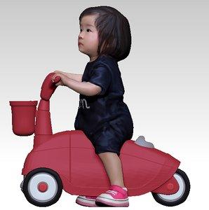 baby girl car 3D