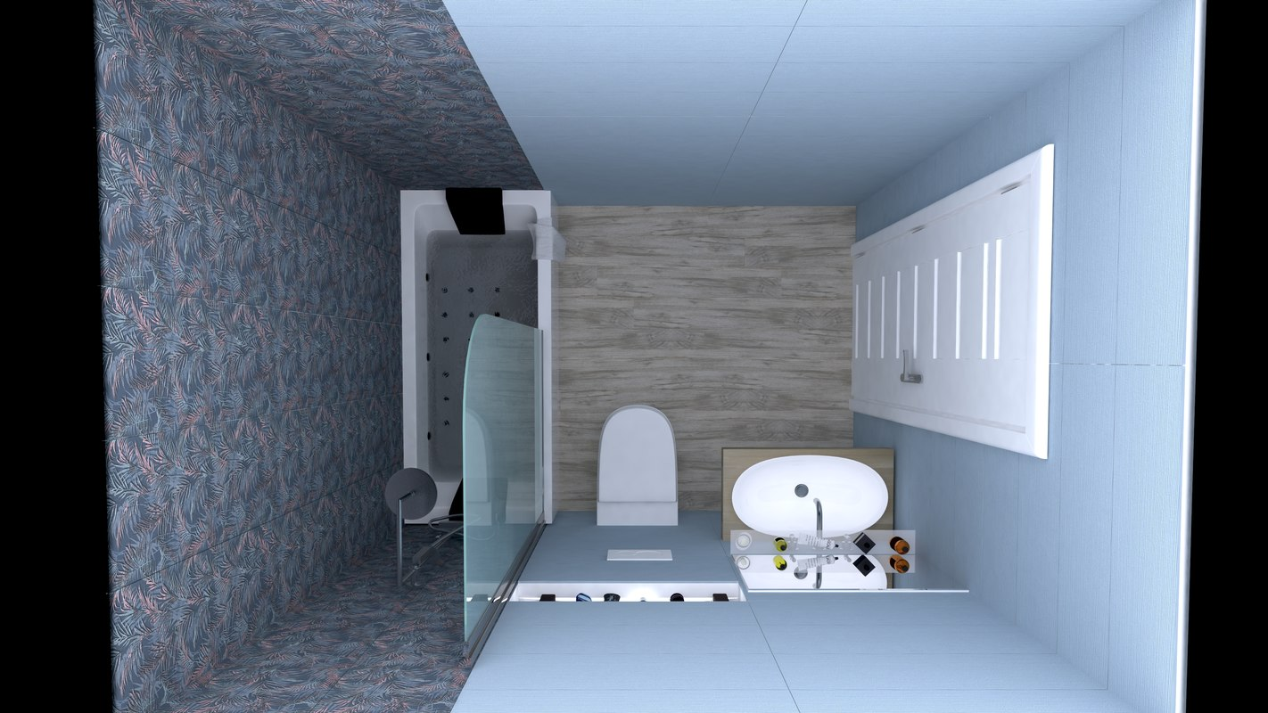 3D bathrooms design model