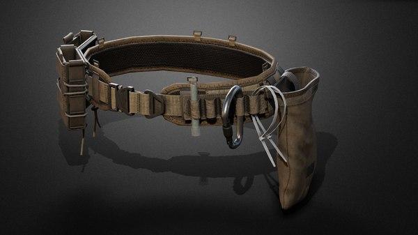 3D tactical belt pack model