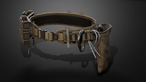 3D tactical belt pack model