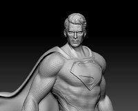 superman men of steel 3D print ready