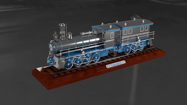 3D model decoration train