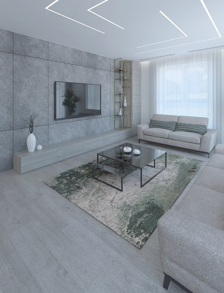 3D model livingroom interior