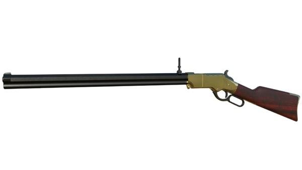 henry rifle 1860 3D model