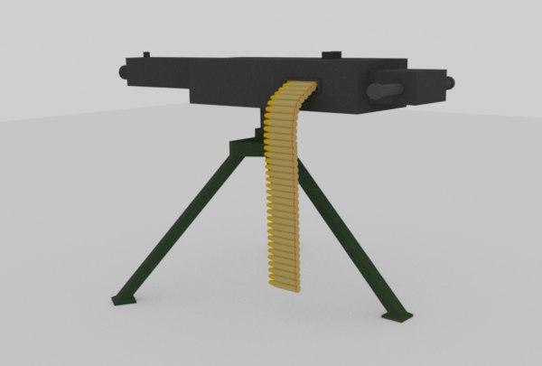 3D machine gun