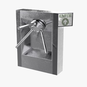 3D tripod turnstile access