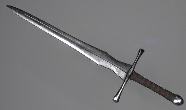 3D longsword metallic