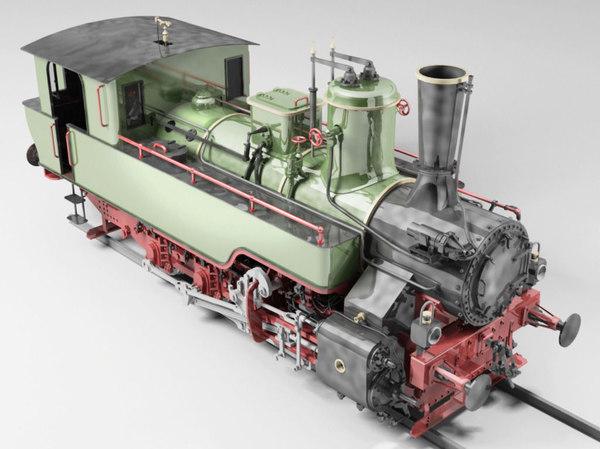 3D mav 475 steam locomotive model
