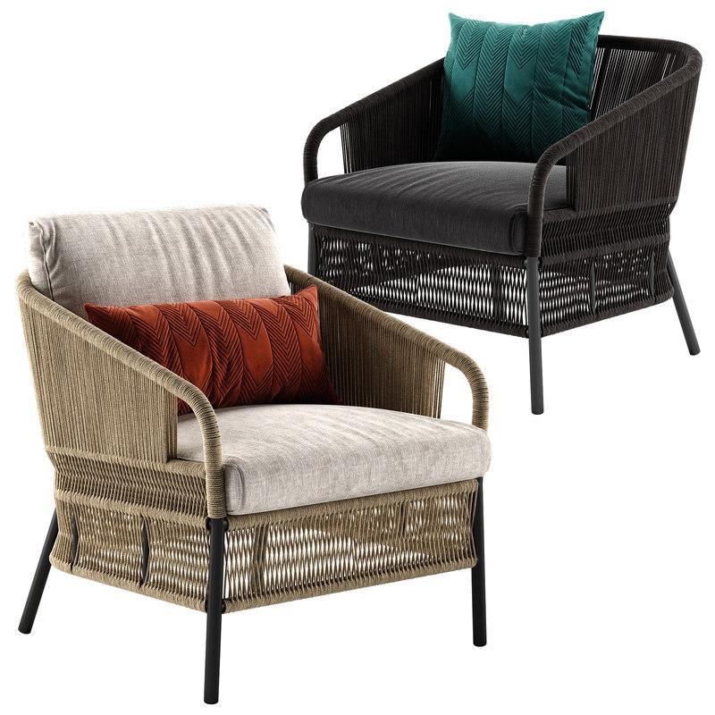 Cricket lounge armchair 3D model - TurboSquid 1421728