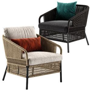 cricket lounge armchair 3D model