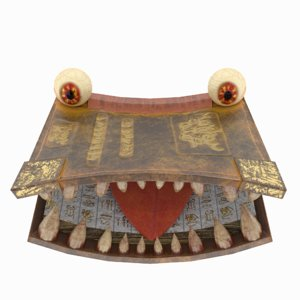 toothy book 3D model