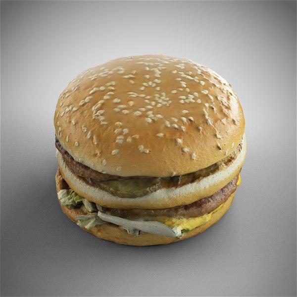 3D model bigmac burger