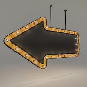 bulb loft signage 3D