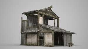 ruined residential relics 3D model